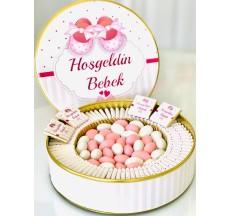 Bebek çikolatası (kız) / Bitter-Sütlü Etiketli Çikolata Ve Bademli Draje