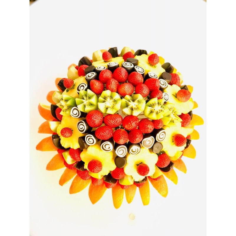 Meyve Melodisi / Lezzetli Çikolata Kaplı ve Fresh Meyve Buketi