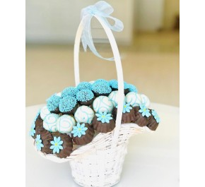 Sweet Baby / Fındıklı Çikolata Kaplı Kurabiye ve Truffle Sepeti