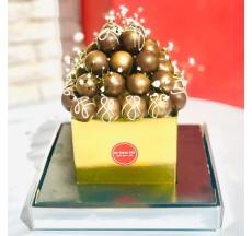 Mutlu Yıllar Lezzeti /  Lezzetli Çikolata Kaplı  Truffle Şık Kutusunda