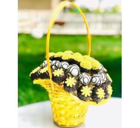 Güneşim / Çikolata Kaplı Fındıklı Kurabiye ve Truffle Sepeti