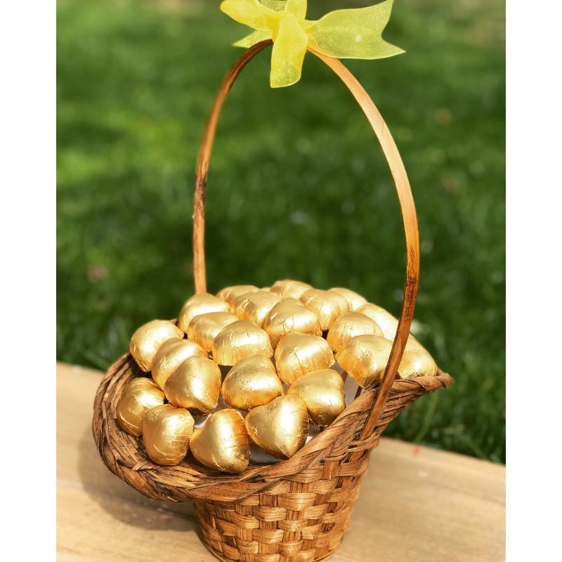 Gold Chocolate / Lezzetli Belçika Çikolatası Şık Sepette