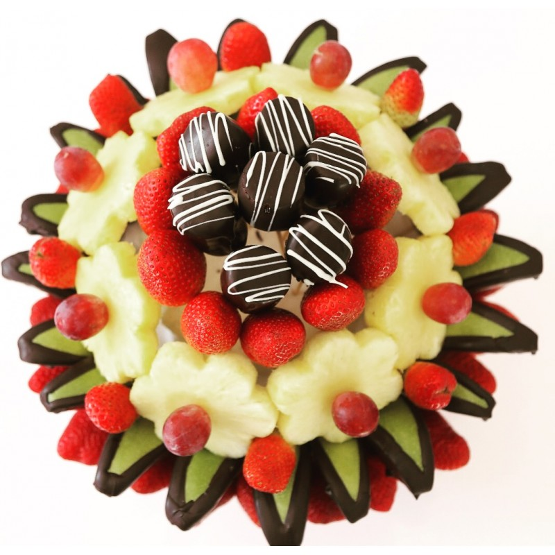 Fresh chocolate fruit