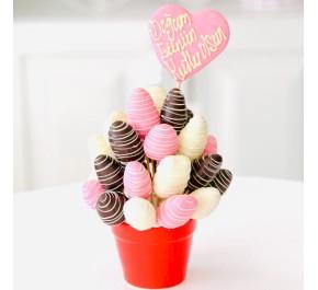 Çilek Aşkı /  Lezzetli Çikolata Kaplı Çilek Buketi Çileğin En Tatlı Hali