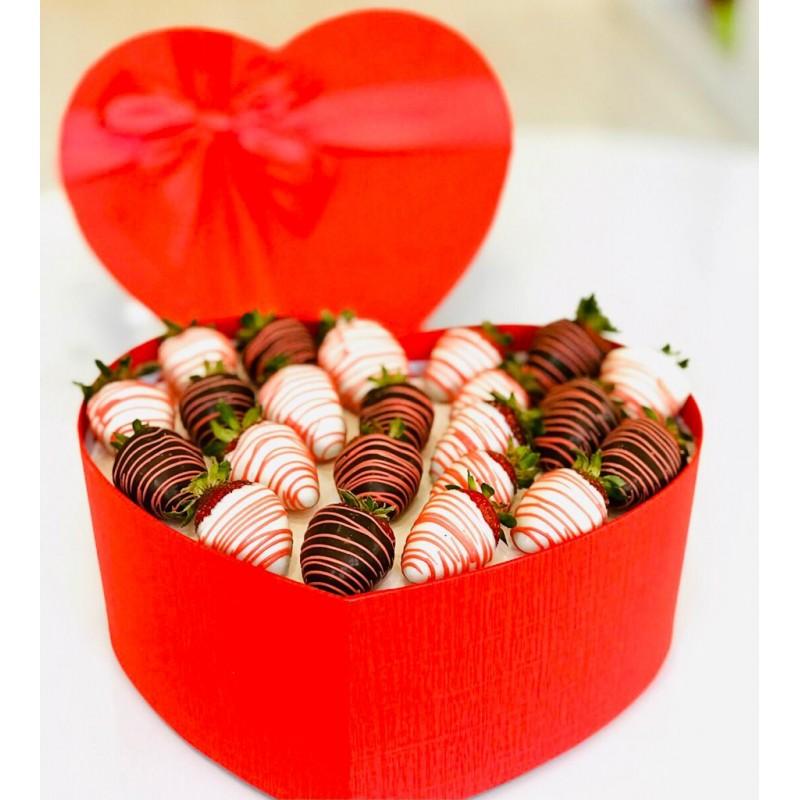 Berry Box / Lezzetli Çikolata Kaplı Çilek Kutusu Şık Sunumuyla