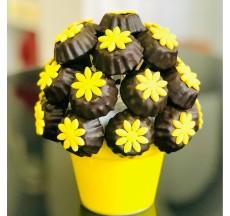 Kurabiye Aşkına / Lezzetli Fındıklı Çikolata Kaplı Kurabiye Buketi