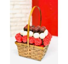 Truffle&Cake Sepeti / Fındıklı Çikolata Kaplı Kurabiye ve Truffle Sepeti